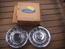 """1980, 1981, 1982  Mercury Cougar 14"""" Wire Spoke Hubcaps (2). OEM New Old Stock"""
