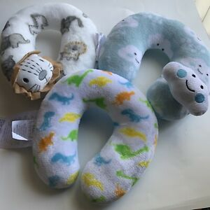 Cribmates Infant Baby Travel Pillow Hed Neck Support Cloud Blue & 2 Others