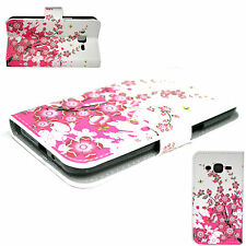 Flower Leather Holder Card Wallet Phone Cover Case For Samsung Galaxy J2 J200