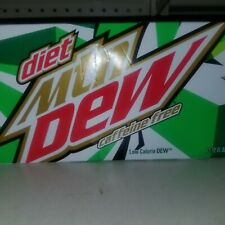12 Pack Cans Mountain Dew Diet Caffeine Free Soda Hard to find! Rare!