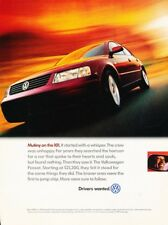 1999 VW Volkswagen Passat Original Advertisement Print Art Car Ad D112
