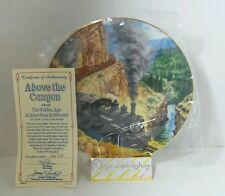 Authentic Above the Canyon Golden Age American Railroads Collectible Plate