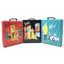 Set of 3 Vintage Barbie and Ken Doll Cases Licensed by Mattel TLC