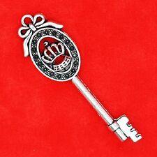 3 x Tibetan Silver Vintage Key Type 8 Charm Pendant Jewellery Making