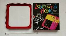"""7""""x7"""" Plastic Hand Weaving Loom and Hook To Make Potholders Craft Activity Toy"""