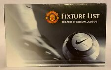 Manchester United 2005 / 2006 Fixture List / Card Official Club Issue