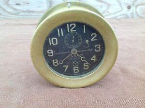 Chelsea Clock Co US Navy Deck Clock No. 2, Brass Housing
