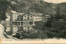 Carte BESANCON Usine d'Horlogerie sur le Doubs à Tarragnoz