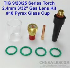 """8 pcs TIG Welding Torch Gas Lens Pyrex Cup Kit  for Tig WP-9/20/25 Series 3/32"""""""