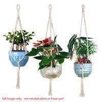 retro macrame/simple cotton plant hanger handmade basket cotton rope s m l pot
