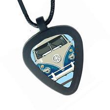 VW Bus Van Vanagon Volkswagen Pickbandz Mens Womens Real Guitar Pick Necklace