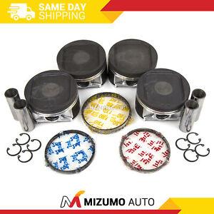 Pistons w/ Rings @STD fit 02-05 Subaru Impreza WRX Saab Turbo 2.0L USDM EJ205