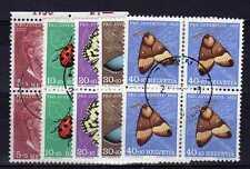 SUISSE SWITZERLAND Yvert n° 526/530 oblitéré - Blocs de 4