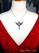 Ladies Girls Winged Diamond Shape Crystal Gothic Pendant Necklace by Alchemy