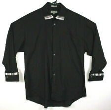 Fratello Long Sleeve Shirt French Cuff Black Size 19.5 / 36-37 Mens (217)