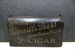 Vintage Tansill's Cigars Chicago Long Havana Deliciosa Spanish Made Match Safe