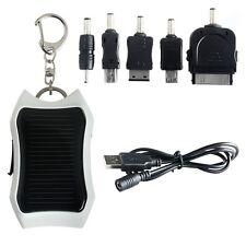 White Mini 1200mAh Solar Power Bank External USB Charger Battery For Emergency
