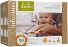 Infantino Fresh Squeezed Squeeze Pouches Baby Food Pouches Pack of 50