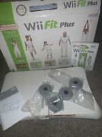Nintendo Wii Fit Plus Game with Balance Board In Original Open Box Complete Lot