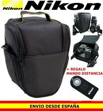 Mochila funda bolso de Camara reflex para Nikon D3300 D5200 D5300 D7200 mando #