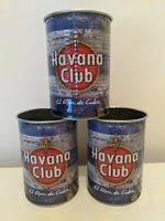 Havana Club Cuban Mojito Tin Cup Glass x3 Bar Pub Mancave Cocktails Advertising