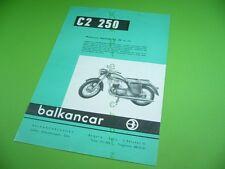 406KA2 Alter Prospekt, Brochure: Motorcycle BALKAN C2 250, balcancar bulgaria