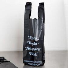 4000 Qty Heavy Plastic Bags 'Thank You' Gold Print Liquor Black T Shirt Best Pr