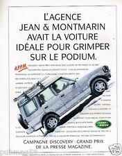 Publicité advertising 1997 Discovery 4X4 Land Rover