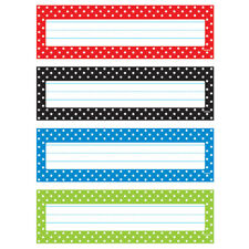 Polka Dots Desk Toppers Name Plates