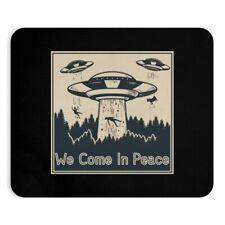 "Retro ""We Come In Peace"" Alien Abduction Magazine Comic Cutout Mousepad NEW"