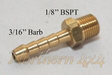 "Brass Barb Fitting 1/8 BSPT Male Thread to 3/16"" INCH Barb Straight"