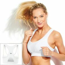 FILA SPORT Sports Bra Size XS White Racerback Core Essential High Impact Running