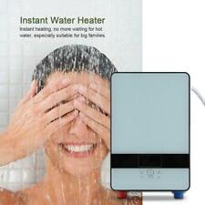 6500W LED Tankless Instant Electric Water Heater Boiler&Shower Spray Head Kit US