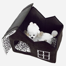 New listing Super Soft British Style Pet House Size M Coffee