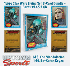 Topps Star Wars Living Set 2 Bundle Cards 145 -146 MANDALORIAN - BO-KATAN KRYZE