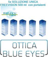 Liquido lenti contatto soluzione unica 5x FREEVISION All in one 500ml visioncare