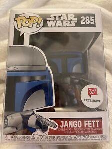 NIB Funko Pop! Star Wars #285 Jango Fett Walgreens Exclusive In Protective Case