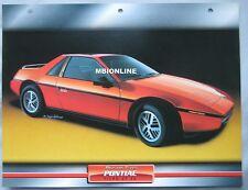 Pontiac Fiero GT V6 Dream Cars Card