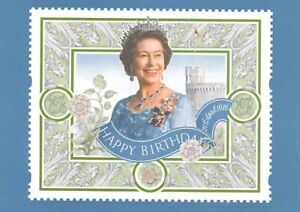 16 APRIL 1996 QUEEN 70th BIRTHDAY LABEL PHQ CARD D11 MINT