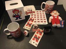 Lot of Nebraska Cornhuskers College Spirit Memorabilia Coffee Mug Go Big Red