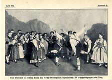 Winterfest der Sektion Berlin des Alpenvereins Die Schuhplattlgruppe beim...1911