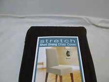 New Sure Fit Stretch Pinstripe Dining Room Chair Cover - Chocolate  NIP