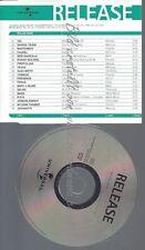 CD--PROMO--UNIVERSAL RELEASE--TEXAS--JOVANOTTI--MUSE-BLIGE-SHANIA TWAIN--VARIOUS