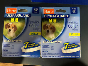 """(2 Pack) HARTZ Flea Collar Small Dogs Waterproof 7 Months Protection - Up to 20"""""""