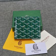 Maison Goyard Porte Feuille Green Mustard Bi-Fold Wallet