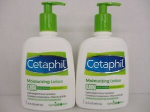 2 CETAPHIL MOISTURIZING LOTION BODY & FACE ALL SKIN TYPES 16 OZ.EACH  BB 4269