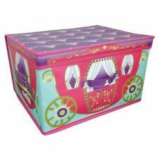 Jumbo Storage Box Folding Large Toys Box Chest Girls Room Tidy Princess Carriage
