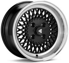 Enkei 92 Classic Line 15x8 25mm Offset 4x100 Bolt Pattern Black Wheel
