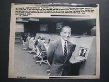 AP Wire Press Photo 1992 Ross Perot stands in front of Electronic Data Systems