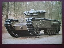 POSTCARD CHURCHILL MK V TANK